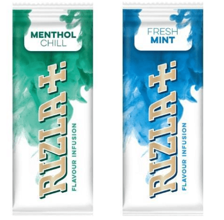 IMage of Rizla packet inserts, menthol and fresh mint