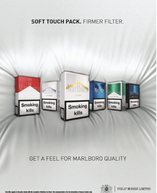 Image of different coloured Marlboro packets