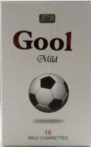 Footbal cigarette packet